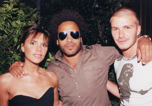 VB pictured with other celebrities Lenny%20kravitz